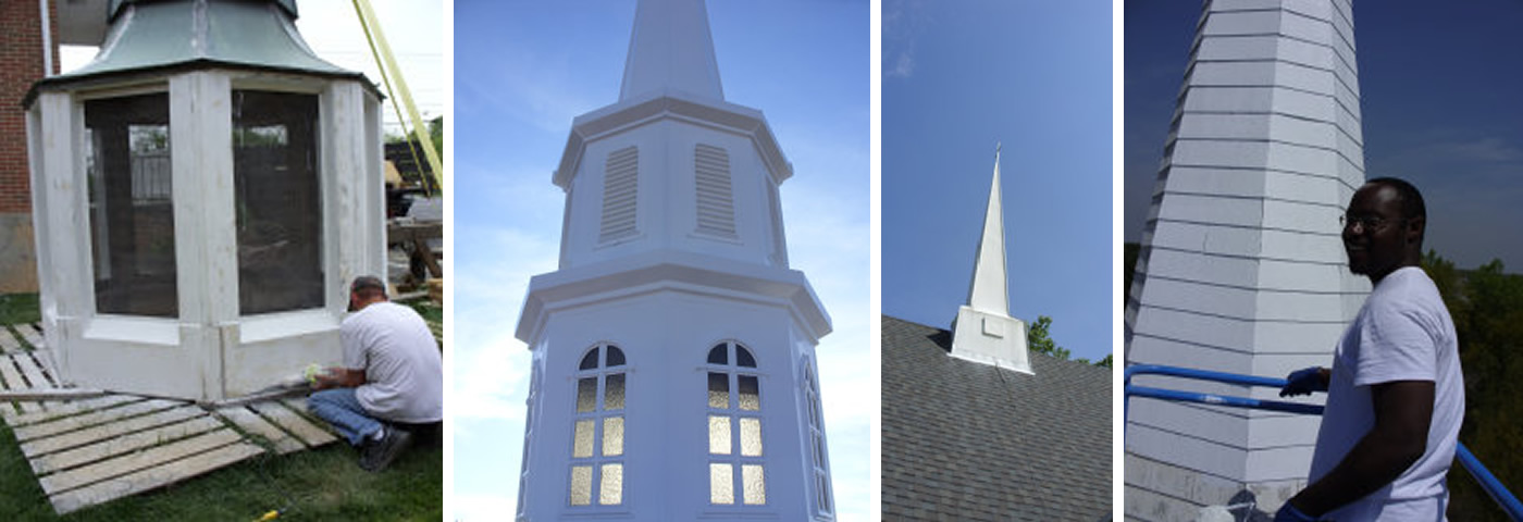 Southern Steeple Jacks is bonded and insured for all 50 states. We install, repair, restore and replace church steeples, spires, cupolas, bell towers and columns all over the South.