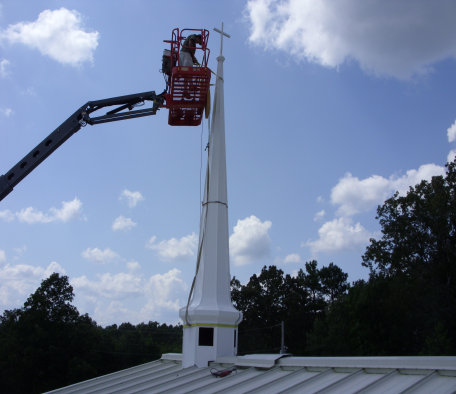 Southern Steeplejacks can restore or replace damaged steeples like this one in South Carolina.