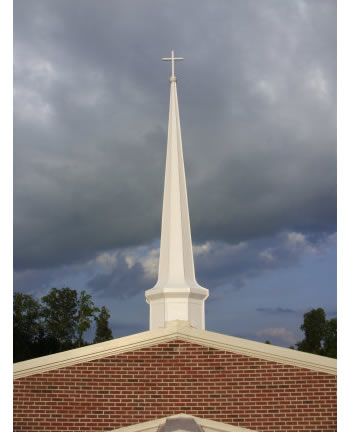 This restored steeple in Arkansas looks brand new!
