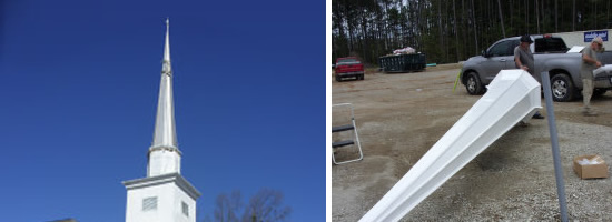 Southern Steeplejacks removes and replaces steeples, cupolas and domes. - Southern Steeplejacks - 828-685-0940