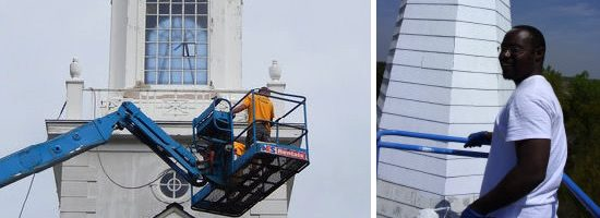 Southern Steeplejacks cleans and repairs Church Steeples, Spires, Cupolas, Bell Towers and Columns. - Southern Steeplejacks - 828-685-0940