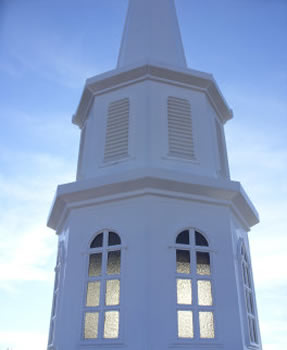 Steeple and glass repaired and cleaned in South Carolina.