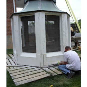 Southern Steeplejacks inspected and repaired the wood and copper on this bell tower.