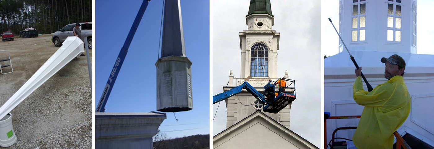 Southern Steeple Jacks: Repair, Restore and Replace Church Steeples, Spires, Cupolas, Bell Towers and Columns in North Carolina, South Carolina, Tennessee, Georgia, Virginia, West Virginia, Florida, Arkansas, Kentucky and Alabama.